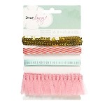 American Crafts - Dear Lizzy Neapolitan Carded Ribbon - Printed & Specialty