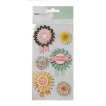 American Crafts - Dear Lizzy Neapolitan Embellishments - Fair Ribbons