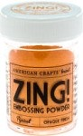 American Crafts Embossing Powder - Zing Opaque Apricot