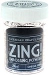 American Crafts Embossing Powder - Zing Opaque Black