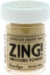 American Crafts Embossing Powder - Zing Opaque Brown Sugar