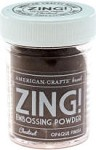 American Crafts Embossing Powder - Zing Opaque Chestnut