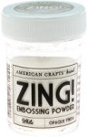American Crafts Embossing Powder - Zing Opaque White