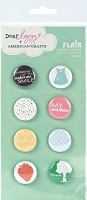 American Crafts - Flair Adhesive Badges - Smiley