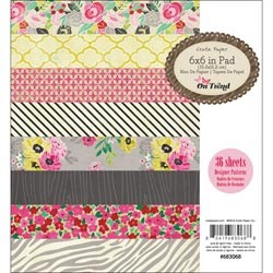 "Crate Paper - On Trend Collection - 6""x6"" Paper Pad - On Trend"