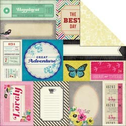 "Crate Paper - On Trend Collection - 12""x12"" Double Sided Paper - Accents"