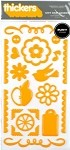 American Crafts Thickers Puffy Stickers - Chit Chat Accents Tangerine