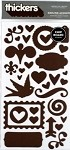 American Crafts Thickers Chipboard Stickers - Darling Accents Chestnut