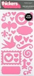 American Crafts Thickers Chipboard Stickers - Darling Accents Lipgloss