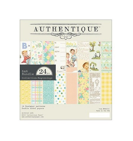 Authentique - Beginnings Collection - 6x6 Paper Pad