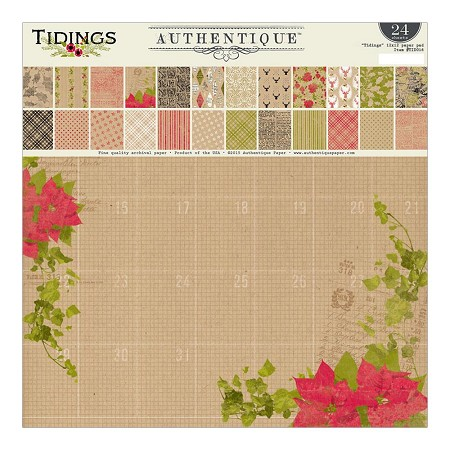 Authentique - Tidings Collection - 12x12 paper pad
