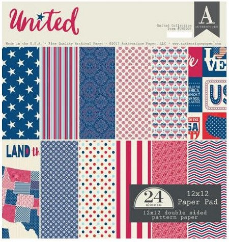 Authentique - United Collection - 12x12 paper pad