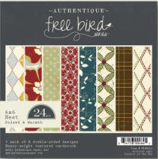 Authentique-6x6 Paper Pad-Freebird-Poised & Warmth
