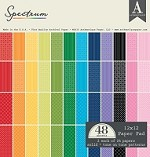 "Authentique - Spectrum Series - 12""x12"" Pad of 48 sheets - Brights (value $47.52)"