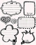 Autumn Leaves - Stampology Clear Stamps Full Sheet - Girl Talk by Peter Horjus