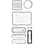 Basics Grey Basics Clear Stamp - Notes