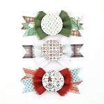 Basic Gray-Nordic Holiday-Layered Stickers Bowties
