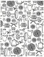 Hero Arts Cling Stamp - Basic Grey Paper Cottage - Garden Background