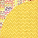 Basic Grey - 12X12 Paper - Soleil Collection - Yellow Umbrella