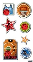 Best Creation - Metal Tag Stickers - Basketball Tags