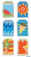 Best Creation - Metal Tag Stickers - Summer Icons