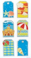 Best Creation - Metal Tag Stickers - Summer Beach