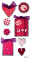Best Creation - Metal Tag Stickers - Love Hearts Tags