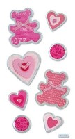 Best Creation - Metal Tag Stickers - Love Bear Tags