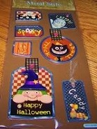 Best Creation - Metal Tag Stickers - Spooky Halloween
