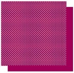 Best Creations-Patterned Glitter Cardstock-Plum Dot