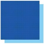Best Creations-Patterned Glitter Cardstock-Dark Blue Dot