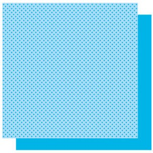 Best Creations-Patterned Glitter Cardstock-Sky Blue Dot