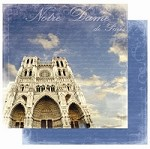 "Best Creation - Europe Collection - 12""x12"" Glitter Cardstock - Notre Dame de Paris"