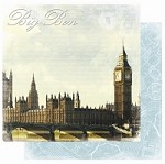 "Best Creation - Europe Collection - 12""x12"" Glitter Cardstock - Big Ben"