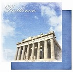 "Best Creation - Europe Collection - 12""x12"" Glitter Cardstock - Parthenon"