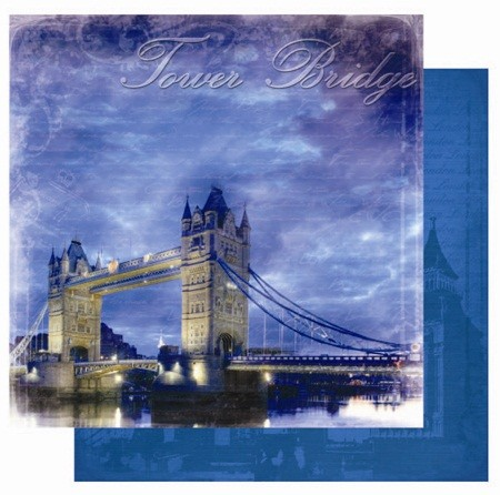 "Best Creation - Europe Collection - 12""x12"" Glitter Cardstock - Tower Bridge"