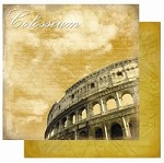 "Best Creation - Europe Collection - 12""x12"" Glitter Cardstock - Colosseum"