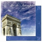 "Best Creation - Europe Collection - 12""x12"" Glitter Cardstock - Arc de Triomphe"