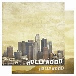 "Best Creation - USA Collection - 12""x12"" Glitter Cardstock - Hollywood"