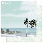 "Best Creation - USA Collection - 12""x12"" Glitter Cardstock - Hawaii"