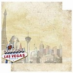 "Best Creation - USA Collection - 12""x12"" Glitter Cardstock - Las Vegas"