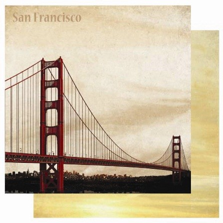 "Best Creation - USA Collection - 12""x12"" Glitter Cardstock - San Francisco"