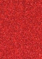 Best Creation Glitter Sticker Paper - Red