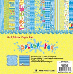 "Best Creation - Splash Fun - 6""x6"" pad"