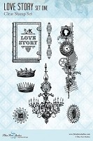 Blue Fern Studios - Clear Stamp - Love Story Stamp 1