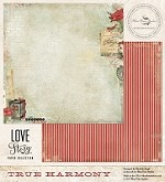 "Blue Fern Studios - Love Story Collection - 12""x12"" Double Sided Paper - True Harmony"