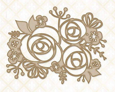 Blue Fern Studios - Chipboard - Rose Bouquet