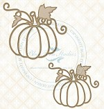 Blue Fern Studios - Chipboard - Pretty Pumpkins