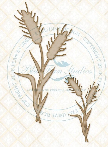 Blue Fern Studios - Chipboard - Wheat Stalks
