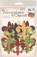 Blue Hills Studio - Treasure Chest - Handmade Paper Die-Cuts - Fleur de Lis